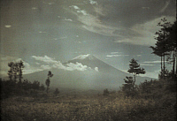 0256236 © Granger - Historical Picture ArchiveNEAR TOKYO, FUJIYAMA, JAPAN.   A distant view of Mount Fuji. Franklin Price Knott.