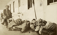 0256596 © Granger - Historical Picture ArchiveRUSSIA.   Soldiers rest on a boat traveling on the Volga River. William T. Ellis.