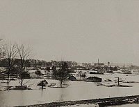 0257812 © Granger - Historical Picture ArchiveCAIRO, ILLINOIS, USA.   The flooded town of Cairo, Illinois. H. C. Frankenfield.