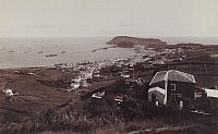 0258172 © Granger - Historical Picture ArchiveHORTA BAY, FAYAL, AZORES, PORTUGAL.   A view of the town at Horta Bay. Arminius T. Haeberle.