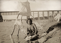 0258344 © Granger - Historical Picture ArchiveYAQUI RIVER, SONORA, MEXICO.   A girl washes clothes in the Yaqui River in the Sonora region. Frederick Simpich.