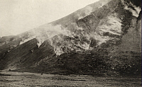 0258713 © Granger - Historical Picture ArchiveFALLING MOUNTAIN, VALLEY OF TEN THOUSAND SMOKES, ALASKA, USA.   Smoke emits through fissures in the slopes of Falling Mountain. D.B. Church.