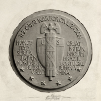 0258967 © Granger - Historical Picture ArchiveARTWORK.   The design for the reverse of the World War I victory medal given to American soldiers, by James Earle Fraser, 1919. No Credit Given.