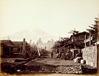 0075837 © Granger - Historical Picture ArchiveJAPAN: MT. FUJI, 1867.   Fuji-yama, as seen from Yoshida. Photograph by Felix Beato.