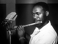 0136957 © Granger - Historical Picture ArchiveBUDDY COLLETTE.   Buddy Collette american jazz flutist c. 1955. Full credit: AGIP - Rue des Archives / Granger, NYC -- All Rights Reserved.