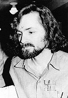0137848 © Granger - Historical Picture ArchiveCHARLES MANSON (1934- ).   American criminal and cult leader. Photographed at the time of his arrest in California for the murder of actress Sharon Tate in 1969. Full credit: AGIP - Rue des Archives / Granger, NYC -- All rights reserved.