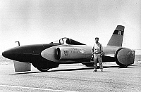 0139204 © Granger - Historical Picture ArchiveCRAIG BREEDLOVE.   Craig Breedlove and his jetcar Spirit of America in Bonneville Salt Flats (Utah) on august 2, 1963. Full credit: AGIP - Rue des Archives / Granger, NYC -- All ri.
