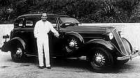 0140221 © Granger - Historical Picture ArchiveDOUGLAS FAIRBANKS.   American actors Douglas Fairbanks (1883-1939) with his Buick (General Motors) in 1934. Full credit: AGIP - Rue des Archives / Granger, NYC -- All rights reserv