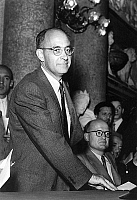 0141005 © Granger - Historical Picture ArchiveENRICO FERMI.   Enrico Fermi (1901-1954) Italian physicist on november 28, 1954. Full credit: AGIP - Rue des Archives / Granger, NYC -- All rights reserved.