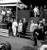 0143902 © Granger - Historical Picture ArchiveGRAHAM HILL.   Graham Hill with prince Rainier III of Monaco and princess Grace at grand prix in Monaco on may 19, 1969. Full credit: AGIP - Rue des Archives / Granger, NYC -- All Rights Reserved.