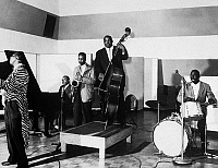 0146501 © Granger - Historical Picture ArchiveJB LENOIR.   Blues singer JB Lenoir Lafayette Leake, blues pianist, Ernest Cotton, sax tenor, Willie Dixon, double bass, and Odie Payne, drum, in 1952. Full credit: AGIP - Rue des Archives / Granger, NYC -- All rights reserved.