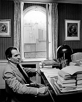 0146698 © Granger - Historical Picture ArchiveJEAN D' ORMESSON.   French writer Jean d'Ormesson, journalist, director of paper Le Figaro here in his office 1974-1977. Full credit: AGIP - Rue des Archives / Granger, NYC -- All Rights Reserved.