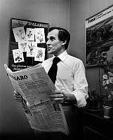 0146724 © Granger - Historical Picture ArchiveJEAN D'ORMESSON.   French writer Jean d'Ormesson, journalist, director of paper Le Figaro here in his office 1974-1977. Full credit: AGIP - Rue des Archives / Granger, NYC -- All Rights Reserved.