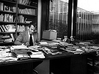 0146725 © Granger - Historical Picture ArchiveJEAN D'ORMESSON.   French writer Jean d'Ormesson, journalist, director of paper Le Figaro here in his office 1974-1977. Full credit: AGIP - Rue des Archives / Granger, NYC -- All Rights Reserved.