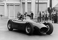 0148334 © Granger - Historical Picture ArchiveJUAN MANUEL FANGIO.   Argentinian racing driver Juan Manuel Fangio on set of a film in Monaco november 6, 1966. Full credit: AGIP - Rue des Archives / Granger, NYC -- All rights re
