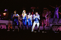 0149788 © Granger - Historical Picture ArchiveLE GROUPE ABBA.   Abba group on stage in 1979 Abba : A pour Annifrid, B pour Benny, B pour Bjorn, A pour Agnetha. Full credit: AGIP - Rue des Archives / Granger, NYC -- All rights