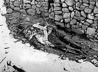 0149877 © Granger - Historical Picture ArchiveLE MASSACRE OF MELOUZA.   Massacre by the FLN of 315 persons of Melouza in Mechta Casbah par le FLN june 01, 1957 , (this action was directed against supporters of theAlgerian National Movement -MNA-) during the war in Algeria. Full credit: AGIP - Rue des Archives / Granger, NYC -- All rights reserv