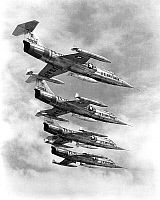 0151192 © Granger - Historical Picture ArchiveF 104C STARFIGHTER.   Lockheed F-104C Starfighter planes, US Air Force, used from 1958. Full credit: AGIP - Rue des Archives / Granger, NYC -- All rights reserved.