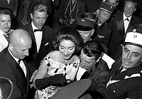 0152582 © Granger - Historical Picture ArchiveMARIA CALLAS.   Maria Callas with Fabre Lebret on may 18, 1960 at Cannes festival. Full credit: AGIP - Rue des Archives / Granger, NYC -- All rights reserved.