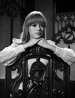0152942 © Granger - Historical Picture ArchiveMARIANNE FAITHFULL.   Marianne Faithfull during tvprogram, may 1966. Full credit: AGIP - Rue des Archives / Granger, NYC -- All Rights Reserved.
