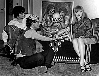 0152943 © Granger - Historical Picture ArchiveMARIANNE FAITHFULL.   Marianne Faithfull and her husband John Dunbar at exhibition of paintings by Simon Homes june 16, 1965. Full credit: AGIP - Rue des Archives / Granger, NYC -- All Rights Reserved.