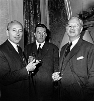 0153662 © Granger - Historical Picture ArchiveMAURICE PAPON.   Maurice Papon, prefect of police of Paris, with Jean Verdier and Roger Frey (minitser of Interior) may 12, 1961. Full credit: AGIP - Rue des Archives / Granger, NYC -- All Rights Reserved.