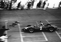0157257 © Granger - Historical Picture ArchivePHIL HILL.   American race driver Phil Hill driving a Ferrari has won Monza grand prize on september 12, 1961. Full credit: AGIP - Rue des Archives / Granger, NYC -- All rights res