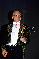 0157503 © Granger - Historical Picture ArchivePIERRE CARDIN.   French dress designer Pierre Cardin has just been received at the Fine Arts Academy in Paris december 3, 1992. Full credit: AGIP - Rue des Archives / Granger, NYC -- All Rights Reserved.