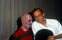 0159356 © Granger - Historical Picture ArchiveROBERT ENGLUND.   Actor Robert Englund with his mask of Freddy 1984. Full credit: AGIP - Rue des Archives / Granger, NYC -- All Rights Reserved.