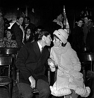 0159944 © Granger - Historical Picture ArchiveSACHA DISTEL SE MARIE.   wedding of Sacha Distel and Francine Breaud in Megeve january 26, 1963. Full credit: AGIP - Rue des Archives / Granger, NYC -- All rights reserved.