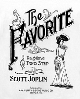 0161247 © Granger - Historical Picture ArchiveTHE FAVORITE.   Cover of score The favorite by Scott Joplin (1868-1917). Full credit: AGIP - Rue des Archives / Granger, NYC -- All Rights Reserved.