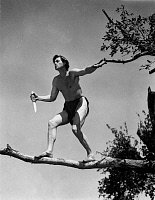 0168134 © Granger - Historical Picture ArchiveTARZAN TROUVE UN FILS.   Tarzan Finds a Son by RichardThorpe with Johnny Weissmuller in 1939. Full credit: CSFF - Rue des Archives / Granger, NYC -- All rights reserved.