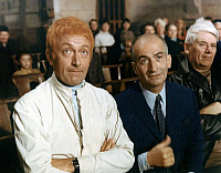 0168283 © Granger - Historical Picture ArchiveLE PETIT BAIGNEUR.   A scene from The Little Bather by Robert Dhery with Louis de Funes and Robert Dhery in 1967. Full credit: CSFF - Rue des Archives / Granger, NYC -- All rights