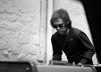 0170893 © Granger - Historical Picture ArchiveELTON JOHN (1947-).   English singer and pianist Elton the castle of Herouville during the recording of his album 'Honky Chateau.' Photograph, 1972. Full credit: Claude Schwartz - Rue des Archives / Granger, NYC -- All rights reserved.