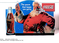 0074902 © Granger - Historical Picture ArchiveCOCA-COLA ADVERT, 1930s.   A Christmas themed Coca-Cola advertisement from the 1930s. American.