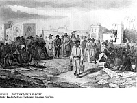 0074919 © Granger - Historical Picture ArchiveSAINT DOMINGUE: SLAVERY.   An open air slave market in Saint Domingue (Haiti). Engraving, 19th century.