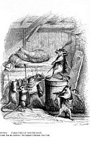 0074926 © Granger - Historical Picture ArchiveFABLE:THE CAT AND THE RATS.   Illustration from the fable by Jean-Pierre Claris de Florian (1755-1794). Engraving, 19th century.