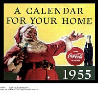 0074936 © Granger - Historical Picture ArchiveCOCA-COLA ADVERT, 1955.   A promotional calendar released by Coca-Cola in 1955.