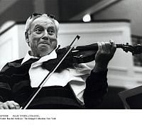 0074988 © Granger - Historical Picture ArchiveISAAC STERN (1920-2001).   American (Russian-born) violinist. Photograph, 1980s.