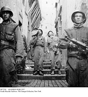 0077558 © Granger - Historical Picture ArchiveALGERIAN WAR, 1957.   French soldiers patrolling the streets of Algiers during the Algerian War, 1 February 1957.