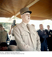 0077564 © Granger - Historical Picture ArchiveCHARLES de GAULLE (1890-1970).   French soldier and statesman. Photographed at Constantine, Algeria, June 1958, during the Algerian War.