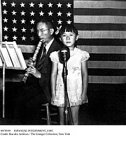0078509 © Granger - Historical Picture ArchiveJAPANESE INTERNMENT, 1945.   A Japanese-American girl performs at an internment camp in Topaz, Utah. Photographed by the War Relocation Authority, July 1945.