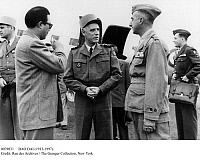 0079831 © Granger - Historical Picture ArchiveBAO DAI (1913-1997).   Last emperor of Vietnam. Bao Dai visiting with General Raoul Salan of the French forces during the war for independence, 1951.