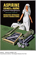0080642 © Granger - Historical Picture ArchiveFRENCH ASPIRIN, c1950.   French poster for Aspirine Usines du Rhone, c1950.