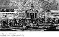 0081281 © Granger - Historical Picture ArchivePARIS: FIREWORKS, 1770.   Fireworks in celebration of the marriage of the dauphin, the future King Louis XVI, to Marie- Antoinette of Austria, 16 May 1770. Contemporary French line engraving.