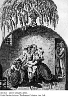 0081294 © Granger - Historical Picture ArchiveLOUIS XVI (1754-1793).   King of France, 1774-1792. King Louis XVI being separated from his family in the tower of the Temple, Paris, 29 September 1792. French engraving, c1800.