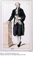 0081328 © Granger - Historical Picture ArchiveINSTITUTE OF FRANCE, 1810.   A member of the French Institute during the 1st Empire, 1804-1814. Contemporary French lithograph.