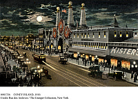 0081336 © Granger - Historical Picture ArchiveCONEY ISLAND, 1910.   Luna Park and Surf Avenue at Coney Island, New York. American gravure reproduction, c1910.