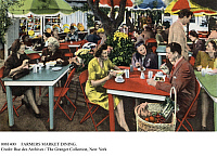 0081400 © Granger - Historical Picture ArchiveHOLLYWOOD: FARMER'S MARKET.   Hollywood dining in the west patio of a farmer's market in Hollywood, California.