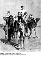 0081419 © Granger - Historical Picture ArchiveFERNAND FOUREAU   (1850-1914). French explorer. Foureau with his escort during the Foureau-Lamy trans-Saharan expedition, 1898-1900. Drawing, c1900, by L. Sasbatier.